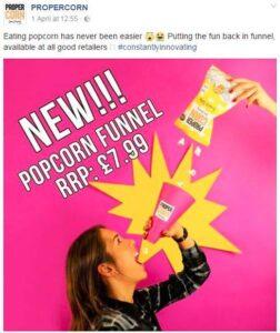 Propercorn Funnel